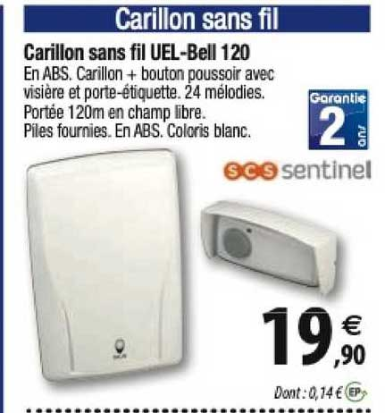Offre Carillon Enfichable Sans Fil Sans Pile Sentinel Chez Eleclerc Brico