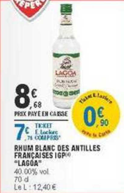 offre lagoa rhum blanc des antilles