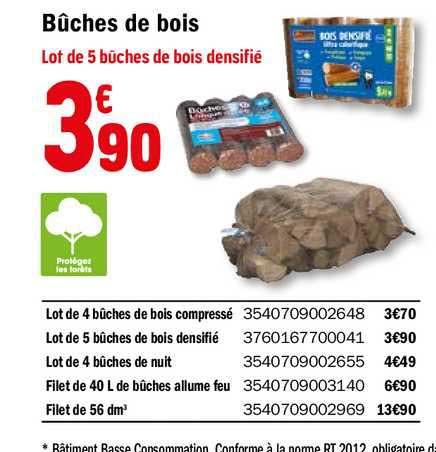 Offre Buches De Bois Chez Brico Depot