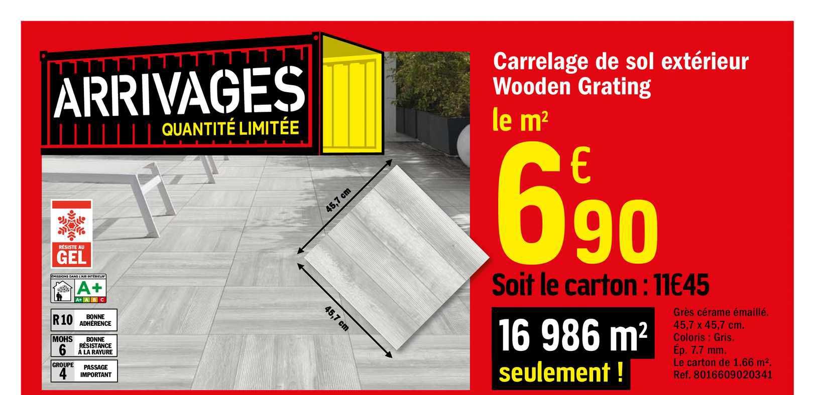 Offre Carrelage De Sol Exterieur Wooden Grating Chez Brico Depot