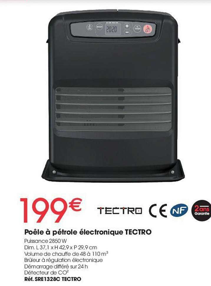 Offre Poele A Petrole Electronique Tectro Chez Brico Pro