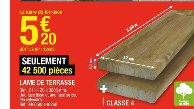 Offre Lame De Terrasse Chez Brico Depot
