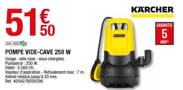Offre Pompe Vide Cave 250 W Karcher Chez Brico Depot