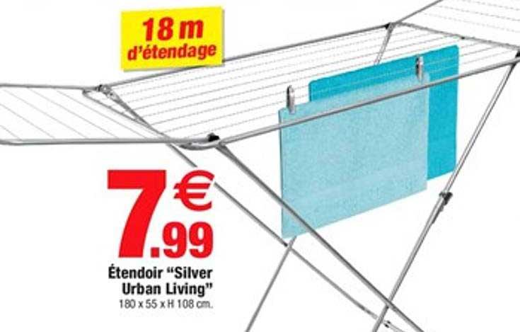 Offre Etendoir A Linge Pegasus Grey Blue Leifheit Chez E Leclerc