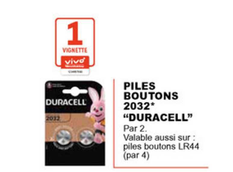 Offre Piles Boutons 2032 Duracell Chez E Leclerc