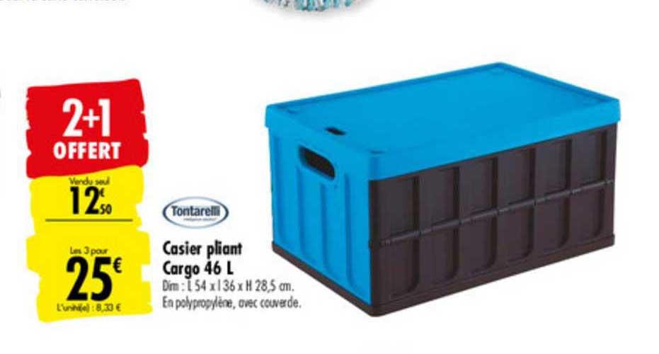 Offre Casier Pliant Cargo 46 L Tontarelli 2 1 Offert Chez Carrefour
