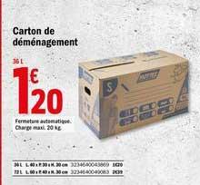 Offre Carton De Demenagement Chez Brico Depot