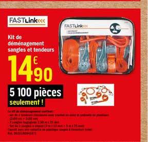 Offre Fastlink Kit De Demenagement Sangles Et Tendeurs Chez Brico Depot