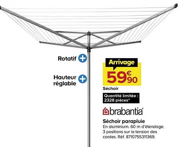 Offre Sechoir Parapluie Brabantia Chez Castorama