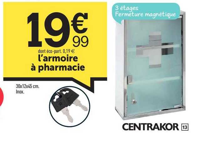 Offre L Armoire A Pharmacie Chez Centrakor