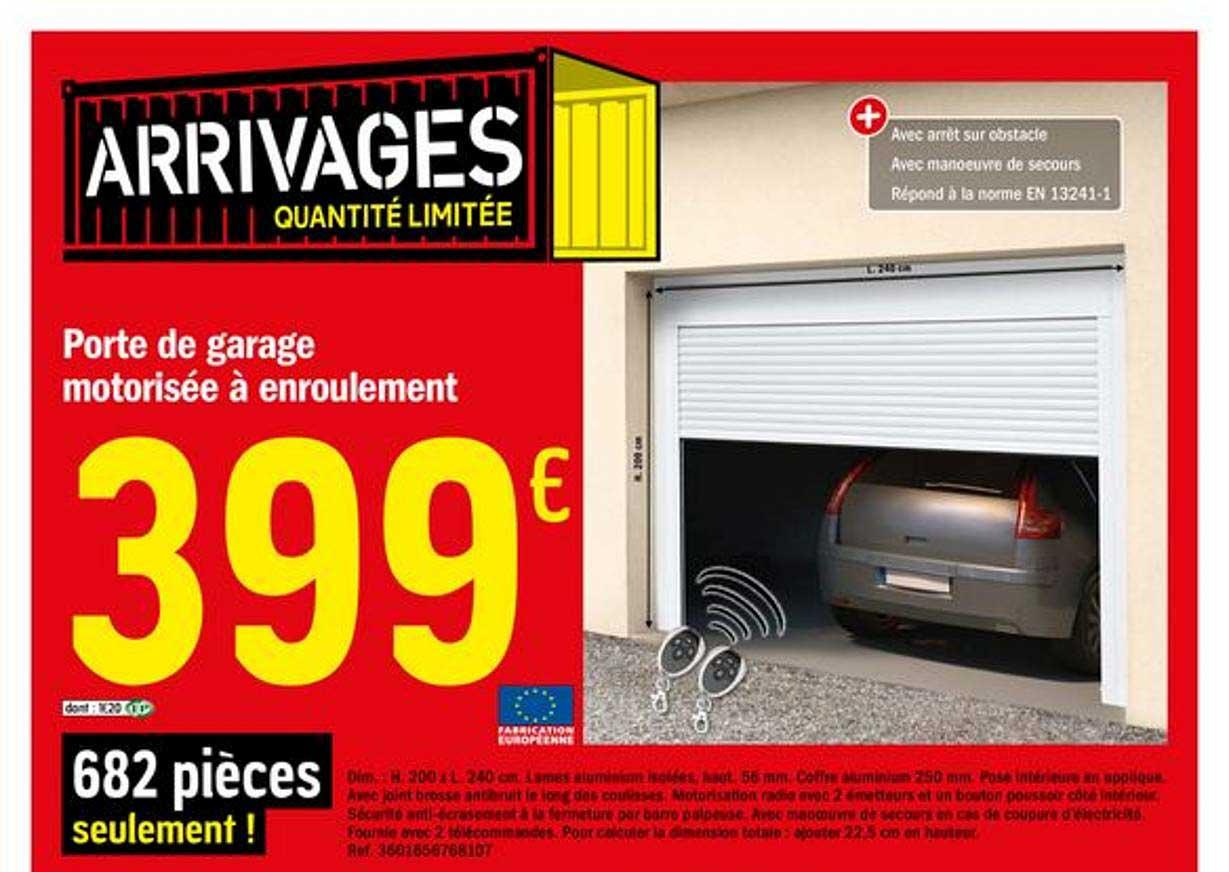 Offre Porte De Garage Sectionnelle Motorisee Chez Brico Depot