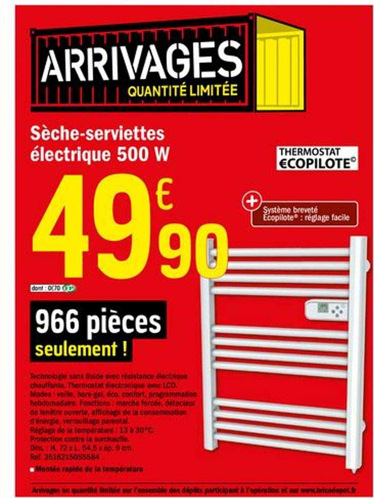Offre Seche Serviettes Electrique 500 W Chez Brico Depot