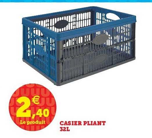 Offre Casier Pliant 32l Chez U Express