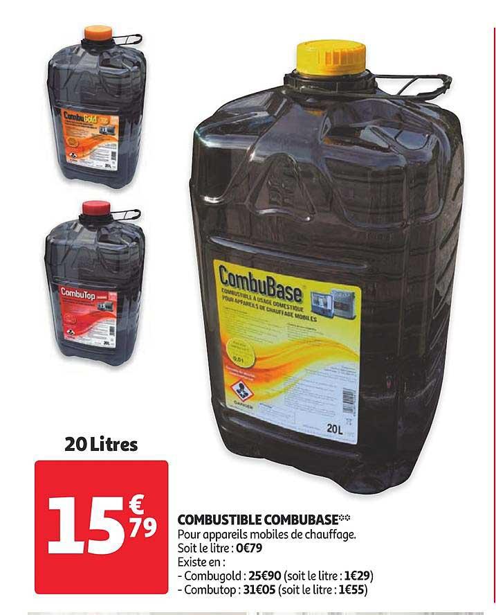 Offre Combustible Combubase Chez Auchan
