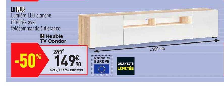 offre meuble tv condor chez conforama