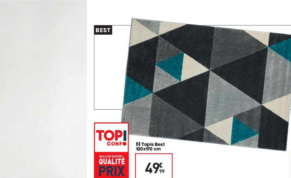offre tapis best 120x170 cm chez conforama