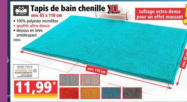 offre tapis de bain chenille xl chez norma