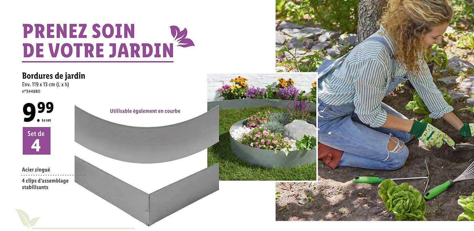 offre bordures de jardin chez lidl