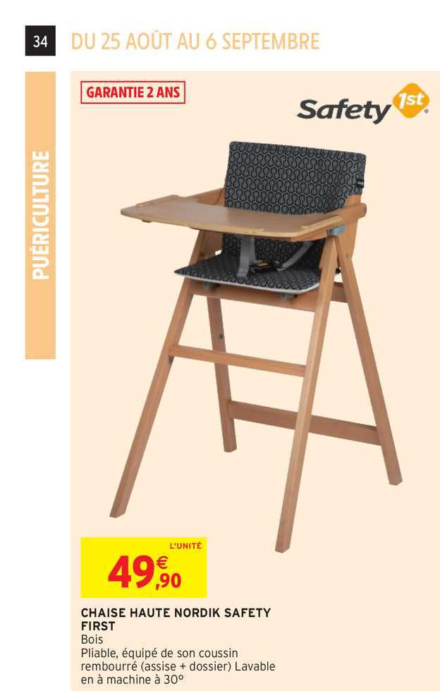 offre chaise haute nordik safety1st
