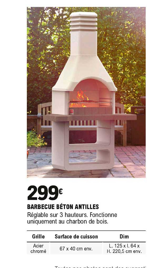 Offre Barbecue Beton Antilles Chez Eleclerc Brico