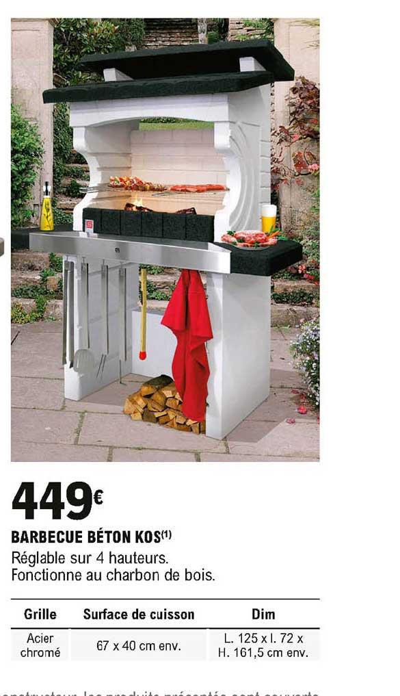 Offre Barbecue Beton Kos Chez Eleclerc Brico