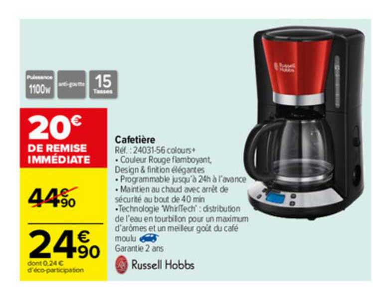 Offre Cafetiere Russell Hobbs Chez Carrefour