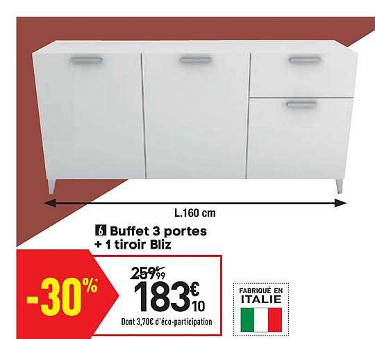 offre buffet 3 portes 1 tiroir bliz