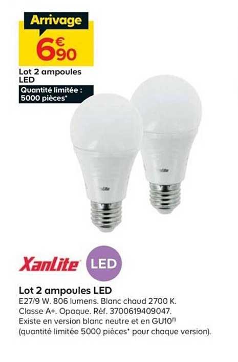 Offre Lot 2 Ampoules Led Xanlite Chez Castorama