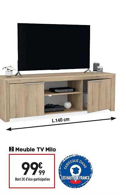 offre meuble tv milo chez conforama