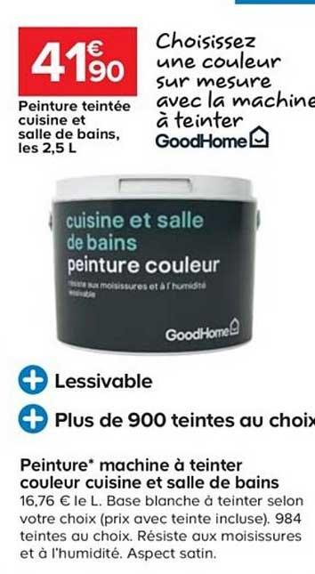 Offre Peinture Machine A Teinter Couleur Cuisine Et Salle De Bains Chez Castorama