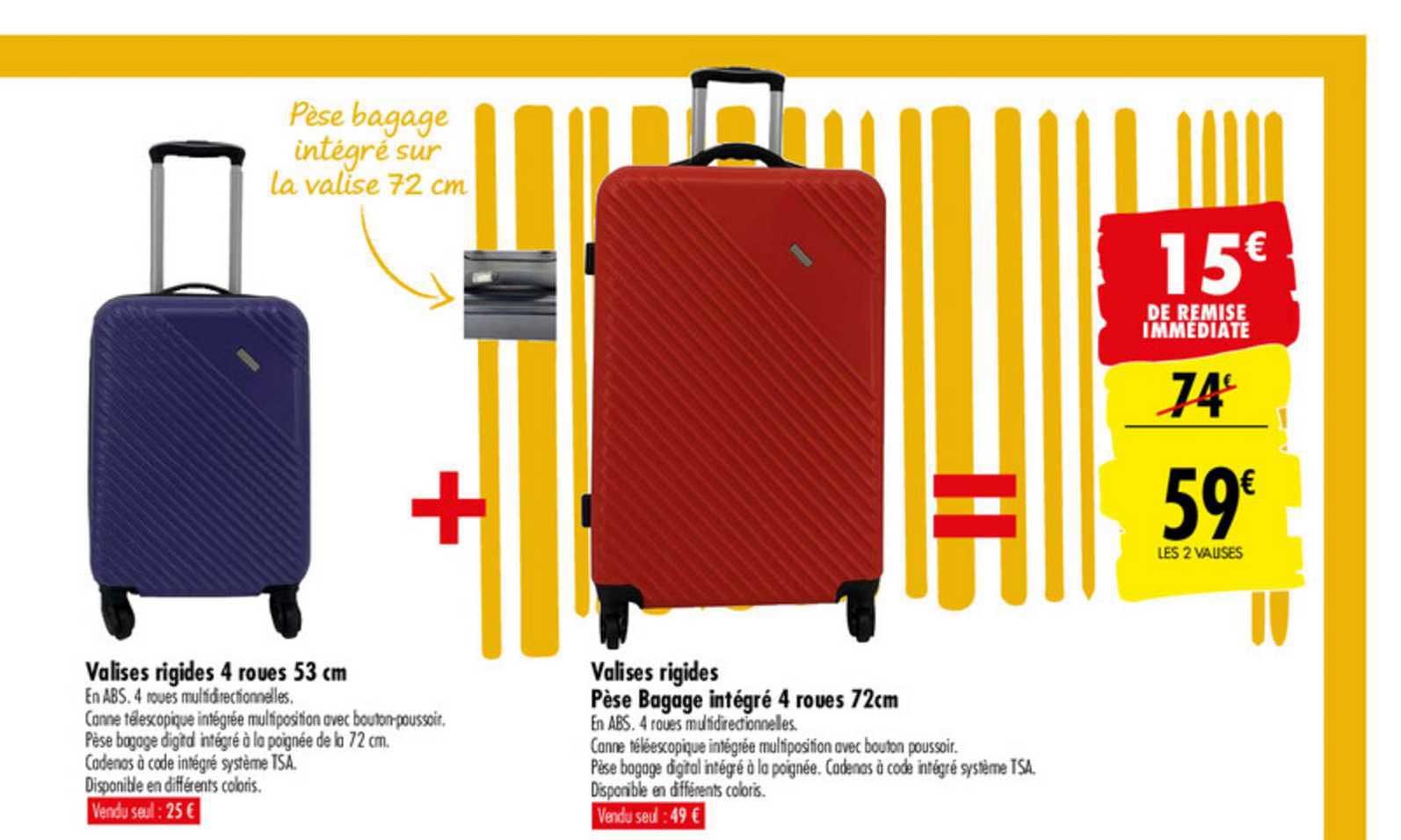 offre valises rigides bicolore chez