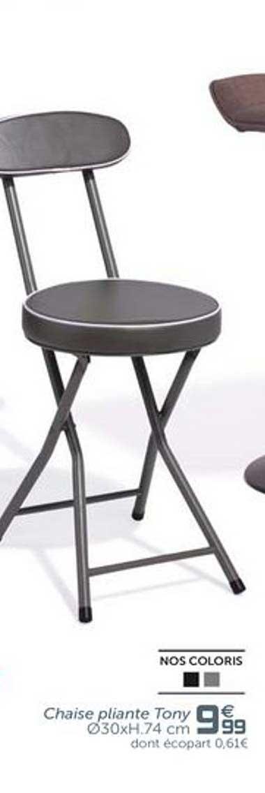 Offre Chaise Pliante Tony Chez Gifi