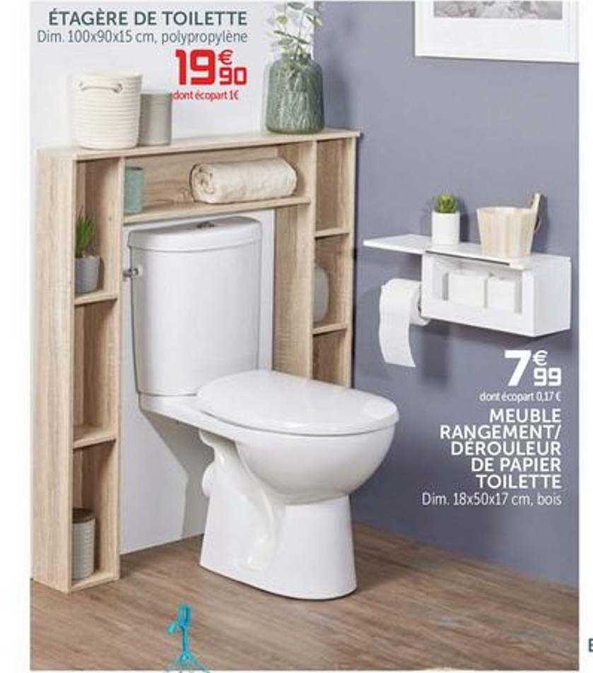 Offre Etagere Pour Machine A Laver Ou Wc Meuble De Toilette Chez Super U