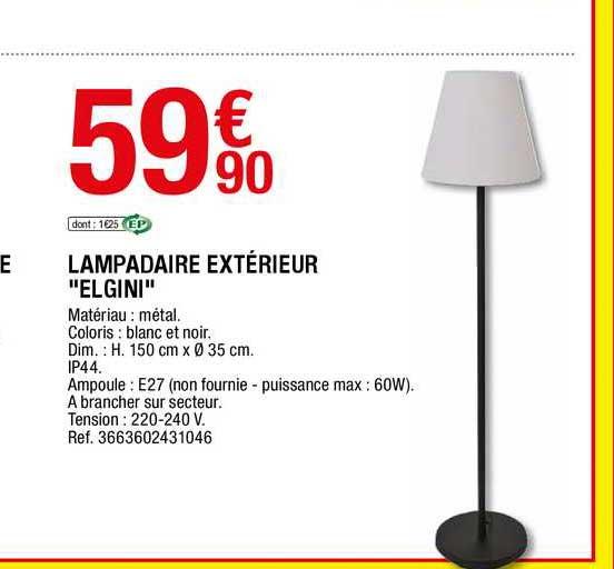 Offre Lampadaire Exterieur Elgini Chez Brico Depot