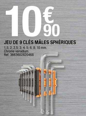 Offre Jeu De 9 Cles Males Spheriques Chez Brico Depot