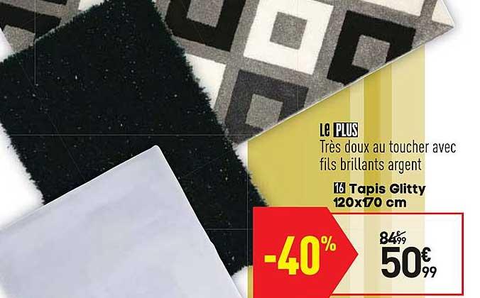 offre tapis glitty 120x170 cm chez