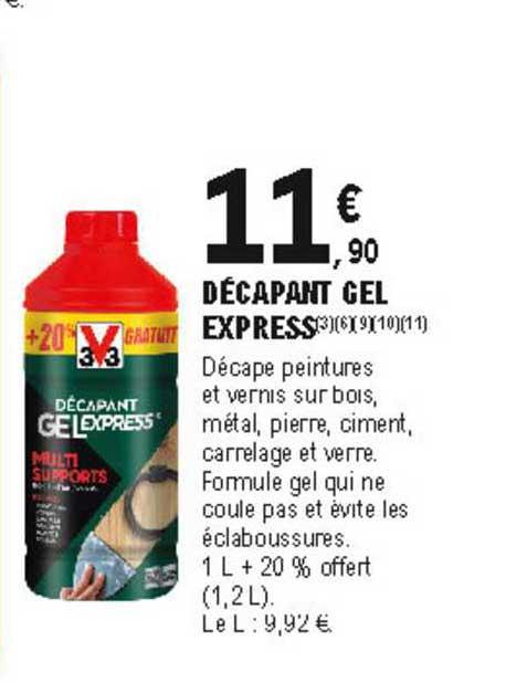 Offre Decapant Gel Express V33 Chez Eleclerc Brico