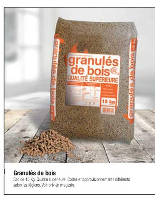 Offre Granules De Bois Chez Bricorama