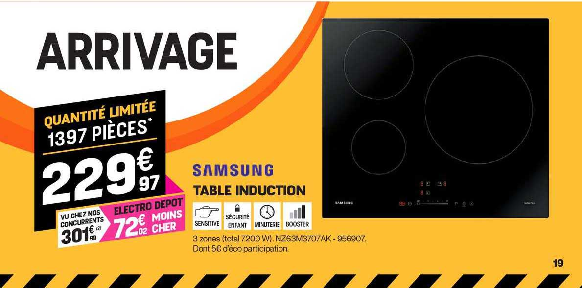 Offre Table Induction Samsung Chez Electro Depot