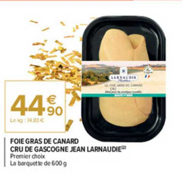 offre foie gras de canard cru de