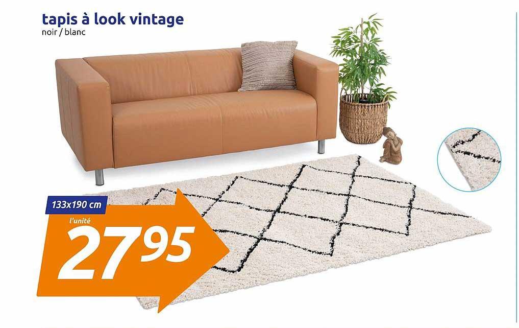 offre tapis a look vintage chez action