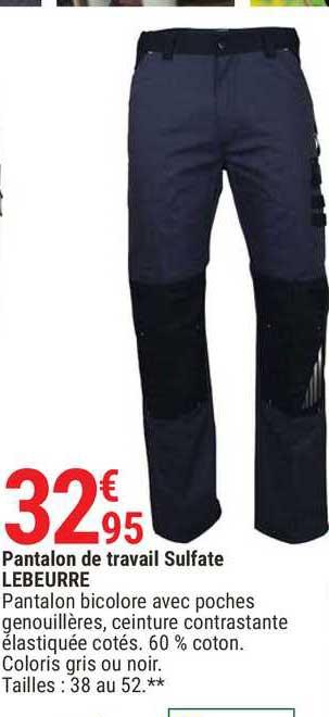 offre pantalon de travail sulfate