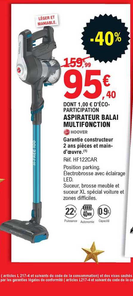 offre aspirateur balai multifonction