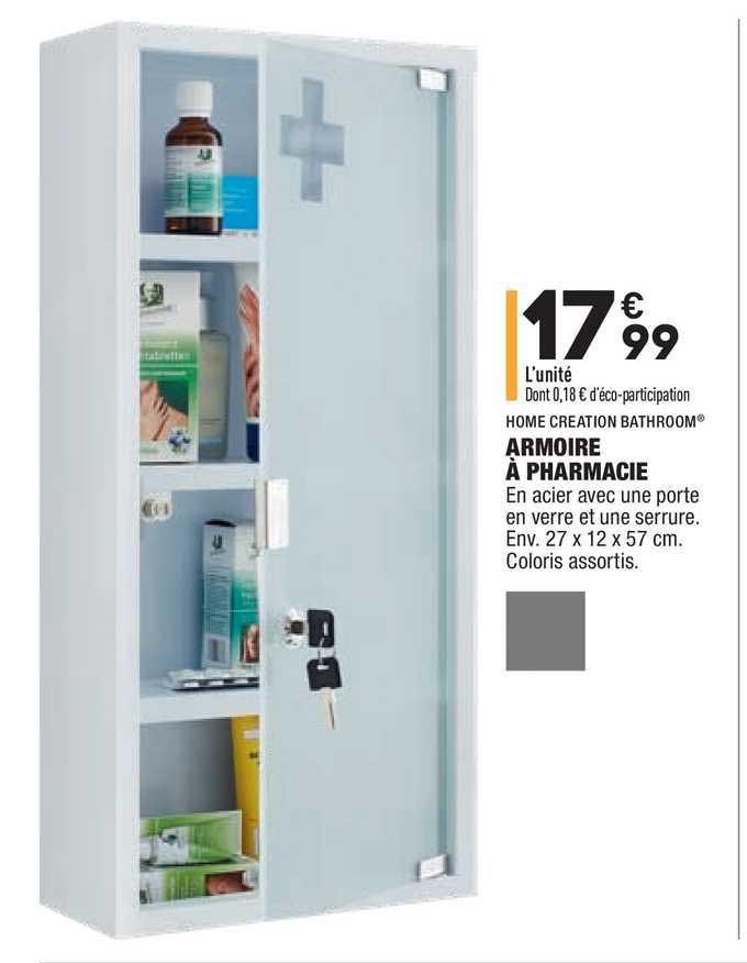 Offre Home Creation Bathroom Armoire A Pharmacie Chez Aldi