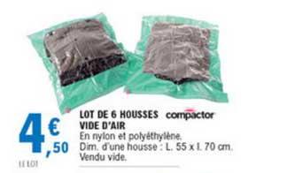 Offre Lot De 6 Housses Vide D Air Compactor Chez E Leclerc
