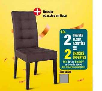 offre chaises floria 2 achetees 2