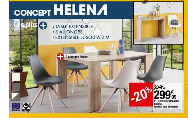 offre console extensible helena 20