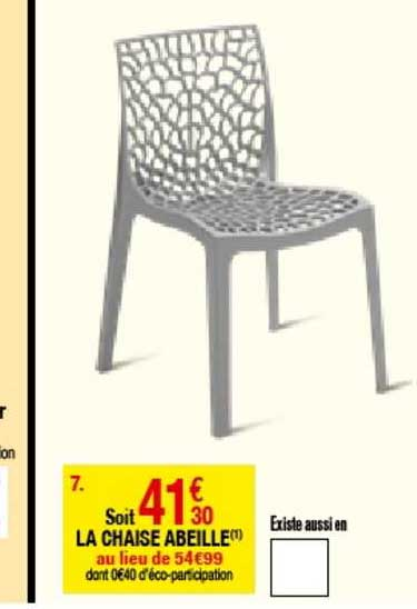 offre la chaise abeille chez but