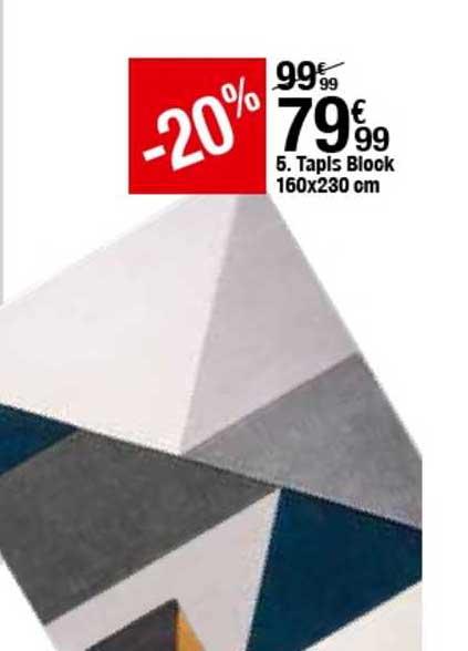 offre tapis blook 160x230 cm 20 chez but