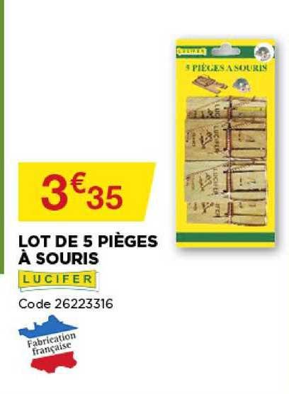 Offre Lot De 5 Pieges A Souris Lucifer Chez Bricomarche